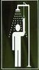 Cartel señalizador de ubicación de la ducha de emergencias