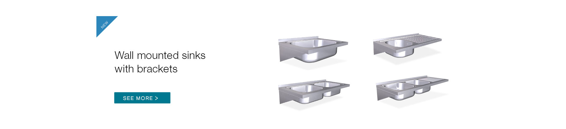Wall mounted sinks with brackets