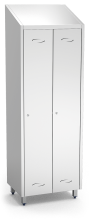Stainless steel 2 doors locker