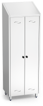 Stainless steel wardrobe for cleaning products - 2 doors