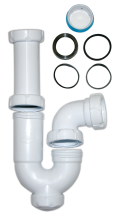 U-bended drainpipe for hand wash basins 1 1/2""