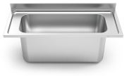 Stainless steel high capacity sink to be mounted 600 & 700 mm.