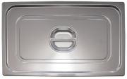 Stainless steel lid for gastronorm container
