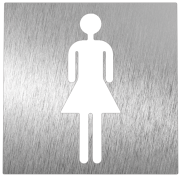 Stainless steel pictogram - Women restroom