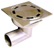 Stainless-steel u-bended sump with horizontal outlet