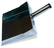 Long handle stainless dustpan