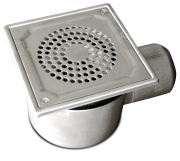 Industrial stainless steel u-bended sump with horizontal outlet