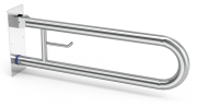 Vertical wall-side hinged support grab bar