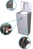 Electronically battery-operated integral washbasin with removable door