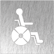 Stainless steel pictogram - Disabled restroom