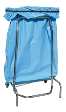 Pedal operated folding system bag-holder container