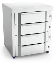 Stainless steel box 4 drawer unit