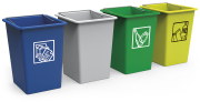 Waste and recycling container