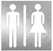 Stainless steel pictogram - Unisex toilet