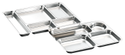 Stainless steel menu trays