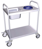 Stainless steel collection trolley