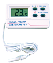 Digital probe thermometer for fridge and freezer