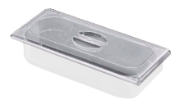 Polycarbonate flat lid for ice cream container