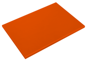 Orange poliethylene high density P500 cutting board