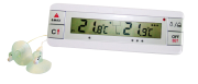 Digital thermometer for fridge and freezer with two probes