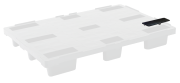 Cover for stackable closed deck europallet