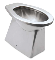 WC inox salida vertical