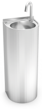Stainless steel electronically operated water column hand wash basin
