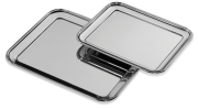 Stainless steel presentation tray