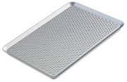 Perforated aluminium pastry baking tray