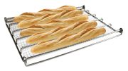 Wire mesh baguette tray. Stainless steel