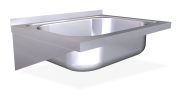 Stainless steel wall mounted sink unit with brackets 500 mm, 1 Tank
