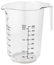 Measuring jug 1 liter with non-slip bottom
