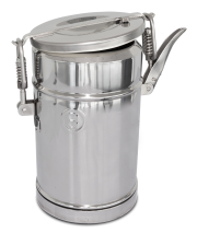 Isothermal food container without tap