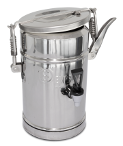 Isothermal food container with tap