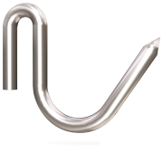 Stainless steel rod hooks for lambs (10  pieces)