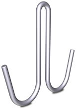 "Stainless steel double blunt rod hook ""J"" type"