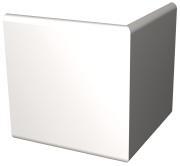 White polyethylene fender plinth for exterior angle