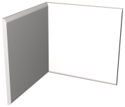 White polyethylene fender plinth for interior angle