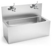 Hand washbasin for operating room with taps