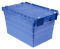 Stackable  distribution box with lid