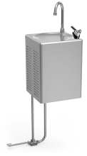 Wall-mounted refrigerated drinking water fountain Cold+ with pedal operated bottle filler