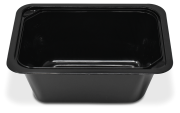 Take away or delivery rectangular container with lid