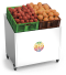 Stainless steel fruit and vegetable display rack with wheels