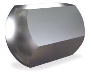 Stainless steel blind nut with metric thread