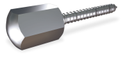 Tornillo inox barraquero con embellecedor 65x10 mm