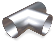 "Stainless steel tube, ""T"" shaped"