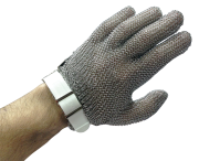 Stainless steel reversible mesh glove with belt
