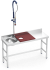Stainless steel preparation and cleansing table 1500 mm red