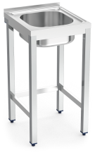 Stainless steel standing sink without shelf 1 tank