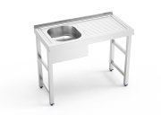 Stainless steel standing sink 1 tank and right drain board